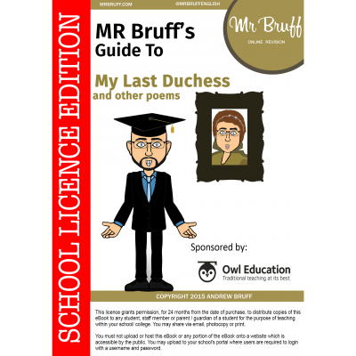 Mr-Bruffs-Guide-to-My-Last-Duchess-School-Licence-Edition